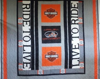 Unique Original design motorcycle quilt