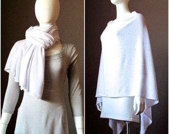 White Nursing Cover/ Nursing Poncho/ Full Coverage/ Modern/ Privacy/ Breastfeeding/ Nursing Shawl / Nursing scarf / sweater knit / blanket