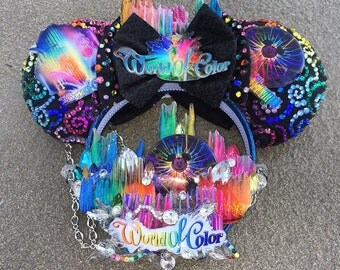 Colorful World Dimensional Headband (necklace sold separately)