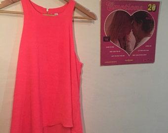 60s HOT PINK Mod Layered Top/dress