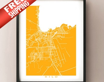 Hilo, Hawaii Map Print
