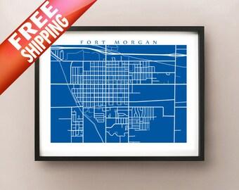 Fort Morgan Map Print - Colorado Poster