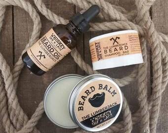 The Lumberjack Beard Kit - Cedarwood & Bergamot Beard Oil, Balm, Shampoo