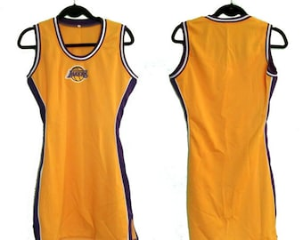 90s Los Angeles Lakers Basketball Jersey Dress (Medium)