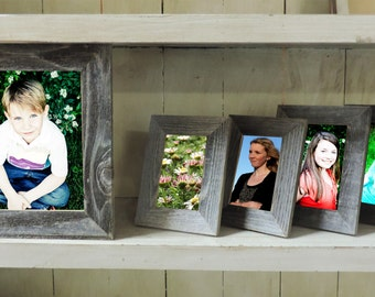 SALE Barnwood Reclaimed Photo Picture Frame Pack 1--8 X 10, 2--4 X 6, 2--5 X 7 barnwood picture frames