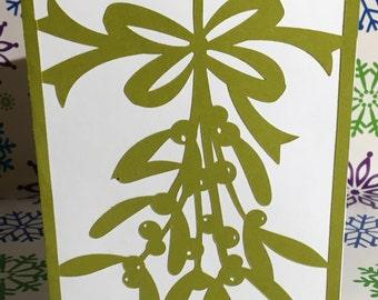 Mistletoe Christmas Card set of 12