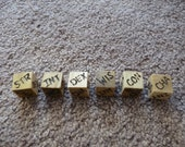 Wood Cut Dice - Random Statistic Die (D20/Dungeons and Dragons)