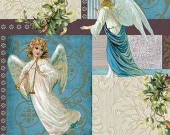 Napkins for decoupage,Vintage Style Paper , Craft,Collage,Card making,Lunch Napkins ,Serviettes - Angels of love.  Set of 5