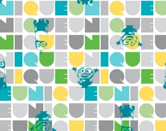 Minions Fabric Le Buddies Fabric Turquoise From Quilting Treasures