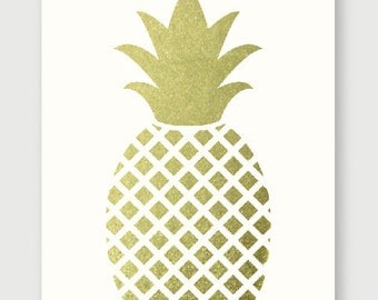 "Original ""Golden pineapple"" Print"