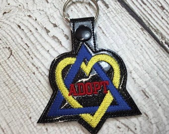 Adoption - Adopt - Key Fob In The Hoop - DIGITAL Embroidery DESIGN