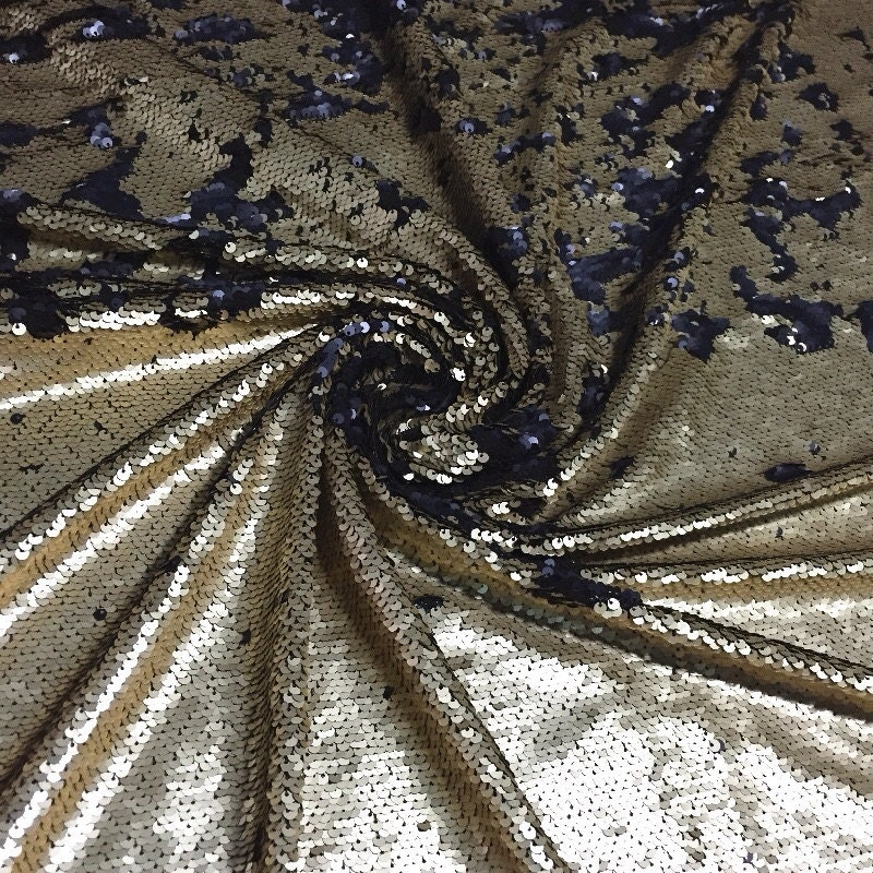 1 yard 2 tone mermaid sequin fabric5mm can flip mesh sequin for Sequin fabric