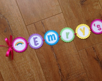 Rainbow ~ Multicoloured ~ Party Banner ~ Personalised
