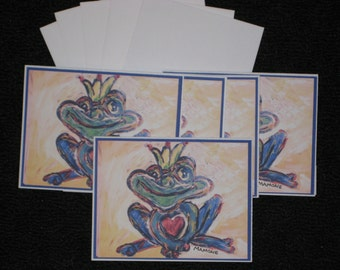 Whimsical Frog Note Cards