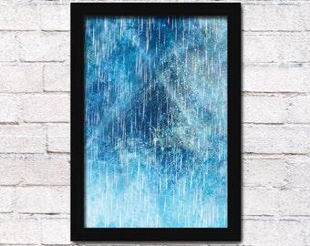 Rain Digital Printable Home Decor - Wall Art