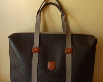 Vintage Celine Macadam Weekend Hand Carry-on Travel Bag