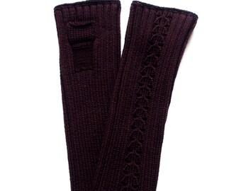 Women's Merino wool fingerless mittens/pulse warmers/arm warmers/fingerless gloves