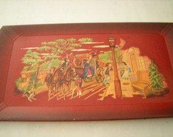 4 vintage tray-Haskelite trays-lap trays-snack trays-gone with the wind design-
