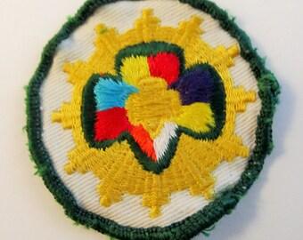 "Vintage Senior Girl Scout Interest Patch ""Panorama"" circa 1963"