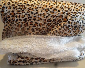 Leopard Print Throw Blanket!