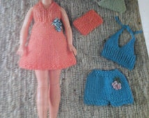 vintage sindy holiday outfit pattern