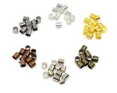 Brass Column Crimp Beads * Cadmium Free * Lead Free * Nickel Free * Mixed Color * 3mm * 1200 pieces * Bead Box Set Kit 037