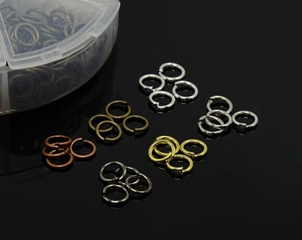 Iron Jump Rings, Closed but Unsoldered * 6mm * Iron * Mixed Colors * 1800 pieces * Bead Box Set Kit 036