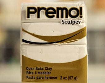 White Premo! Sculpey Polymer Clay 2oz Oven Bake Clay