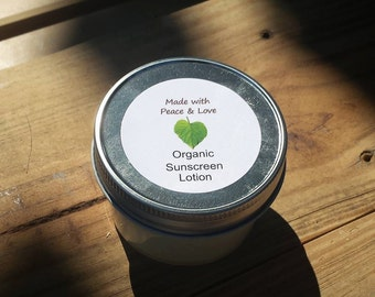 Organic Sunscreen Lotion (Sunblock)