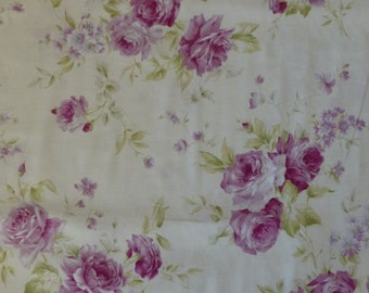 Rococo & Sweet~Purple Roses~Shabby Chic Floral~Cotton Fabric, Quilt~Lecien~Fast Shipping F600