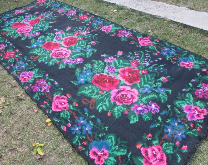 Bessarabian Kilim. Vintage Moldovan Kilim,Floor Rugs Handmade 55 years old, handmade. Carpets, Eco-Friendly. kom.te