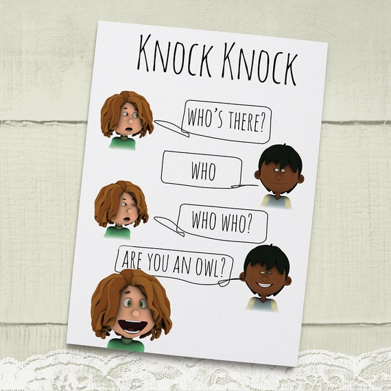 Knock Knock Ya Who Joke Greeting Card For Kids Instant: Items Similar To Knock Knock Joke Greeting Kids Card