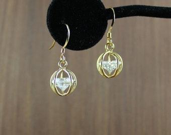 Caged Diamond earrings