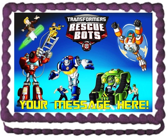 Transformers Rescue Bots Characters Edible Cake Topper ...