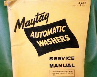 1950s Maytag Service Manual Washers