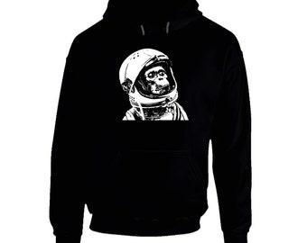 Space Monkey Asto Chimp Black Hoodie