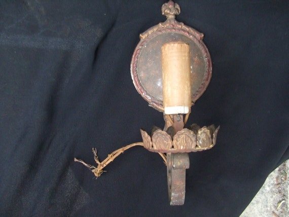 Antique Gothic Style Lighting Fixture Vintage Tudor Wall