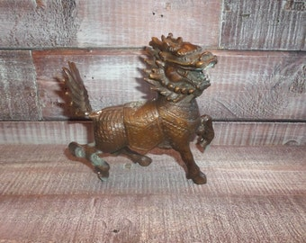 Vintage Metal Foo Dog Figurine
