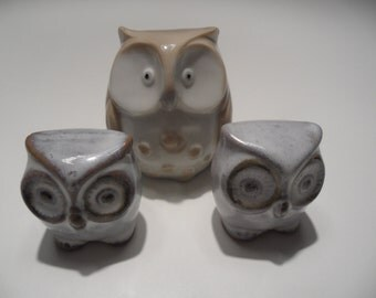 Owl,porcelain owl,owls,owl figures,porcelain figures,collectors figures,porcelain owl set,Vintage porcelain,old porcelain figurines