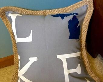 Michigan Lake Pillow