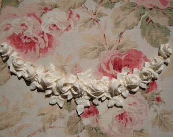 Shabby Chic French Roses Swag Garland Lg Furniture Applique Architectural