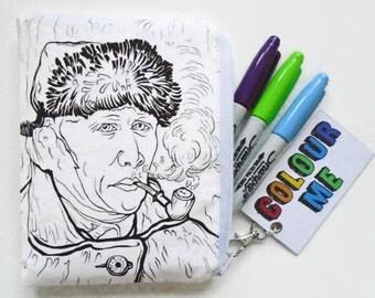 Colour-In The Van Doodle Wallet