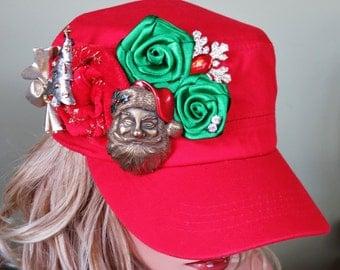 Handmade Festive Christmas Cadet Hat
