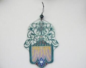Fused glass Chanmsa,home decor,Chamsa,jewish Chamsa,jewish gift