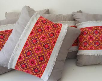 Contemporary hmong cushion