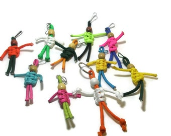 Paracord Buddy Keychain zipper pull backpack accessories custom colors paracord accessories tween bff gifts party favors gift bag