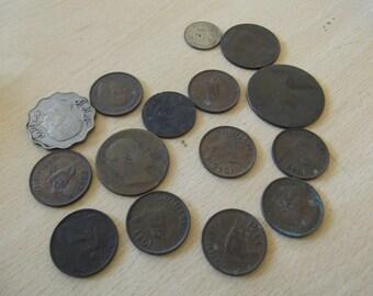 coin collection- miscellaneous, all antique