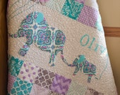 Personalized, Modern, Handmade Baby Quilt for Sale