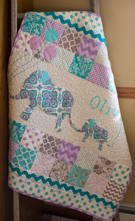 Personalized Modern Handmade Baby Quilt for Sale Custom : handmade quilts for sale etsy - Adamdwight.com