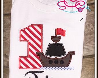 Pirate Themed Birthday Shirt